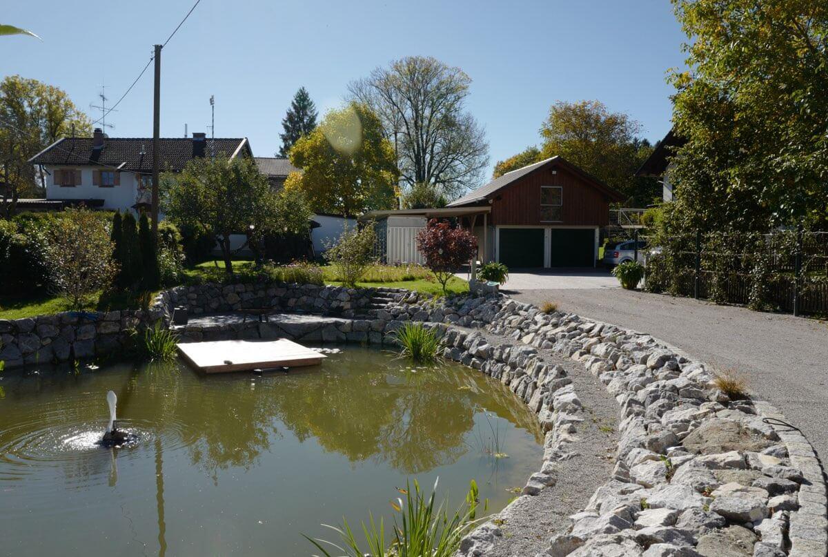 Teichbau u2013 Teichanlagen in München& 5 Seen  ~ 07114926_Gartenteichgestaltung Wasserfall